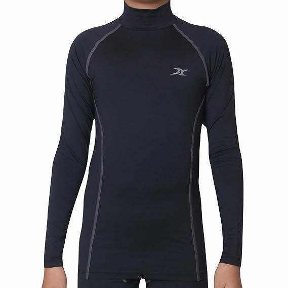 9d63196f9656a Henri maurice Thermal Underwear Kids Mock Turtleneck Shirts Compression  Tops Base Layer NLK: Amazon.co.uk: Clothing
