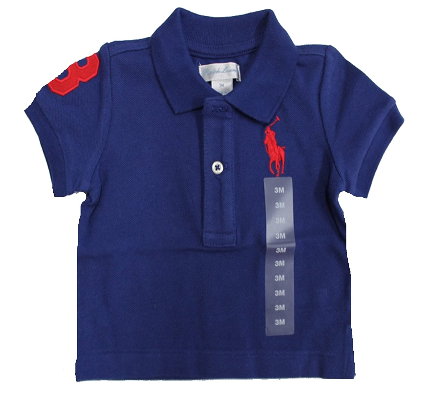 Ralph Lauren Baby Boys Big Pony Polo T Shirt (6M)