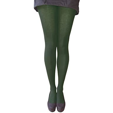364b65c9f02ed4 Women's Pretty Polly Bottle Green 40 Denier Opaque Tights (2 Pair Pack) (S