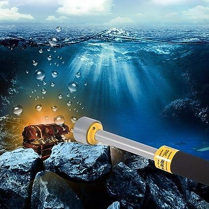 Lorenlli Ajuste PI-iking 740 Detector de Metales 30 m Impermeable Detector de Metales subacuático