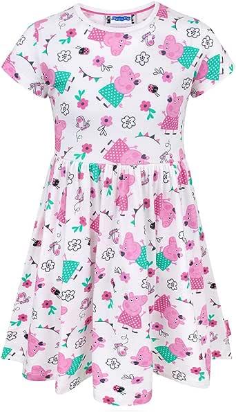 Peppa Pig Girl's Short Sleeved Dress 1 to 6 Years