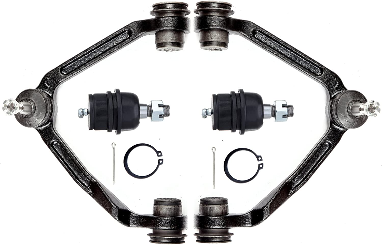 ROADFAR Front Lower Ball Joint Upper Control Arm And Ball Joint Compatible fit 97-02 for Ford Expedition 04 for Ford F-150 Heritage 97-99 for Ford F-250 98-02 for Lincoln Navigator Suspension Set of 4
