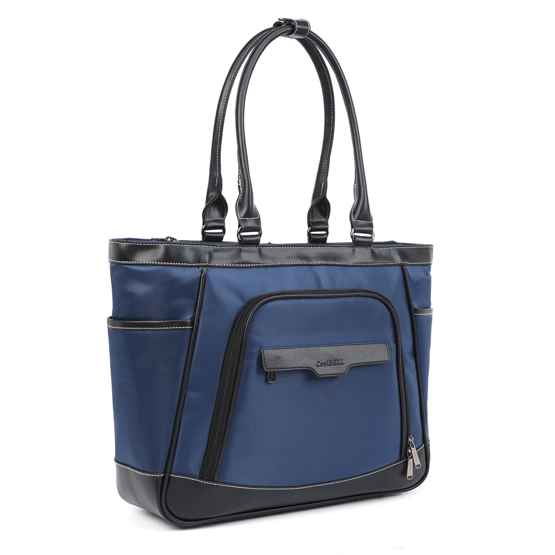 Amzbag Laptop Tote Bag 15.6 Inch Multi-Functional Shoulder Bag with Removable Laptop Compartment Leisure Handbag Top-Handle Bag Women Briefcase (Purple)