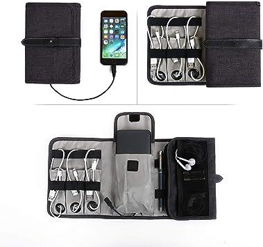 Agolaty Bolsa Travel Cable Organizer Electrónica portátil Accesorios Estuche para Varios USB, Unisex-Youth, Black, Medium: Amazon.es: Ropa y accesorios