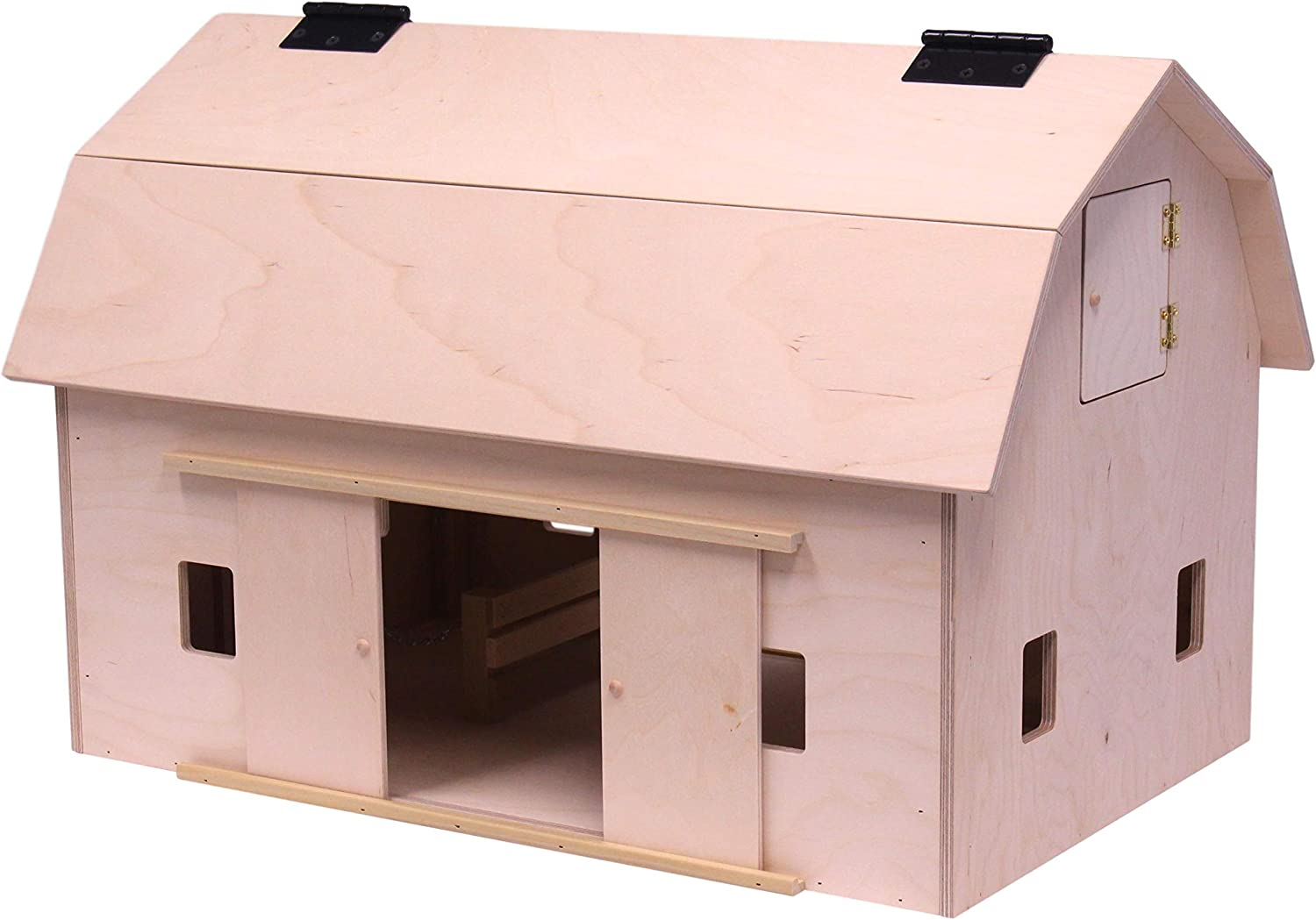 Amazon Com Amishtoybox Com Large Wooden Hip Roof Barn Toy With Hay Loft Amish Made Toys Games