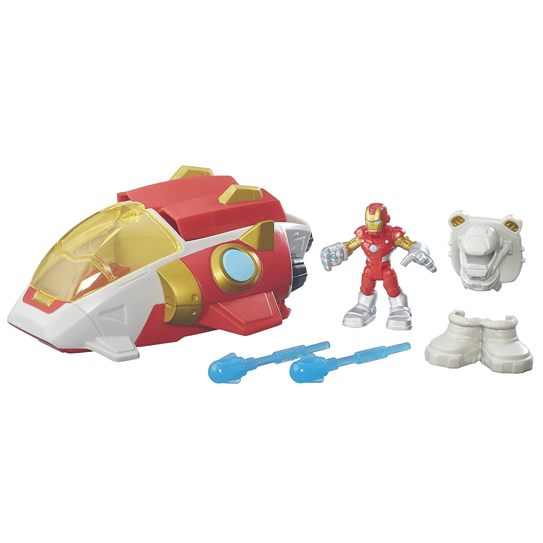Playskool Heroes Super Hero Adventures Iron Man Starship Action Figure /& Vehicle