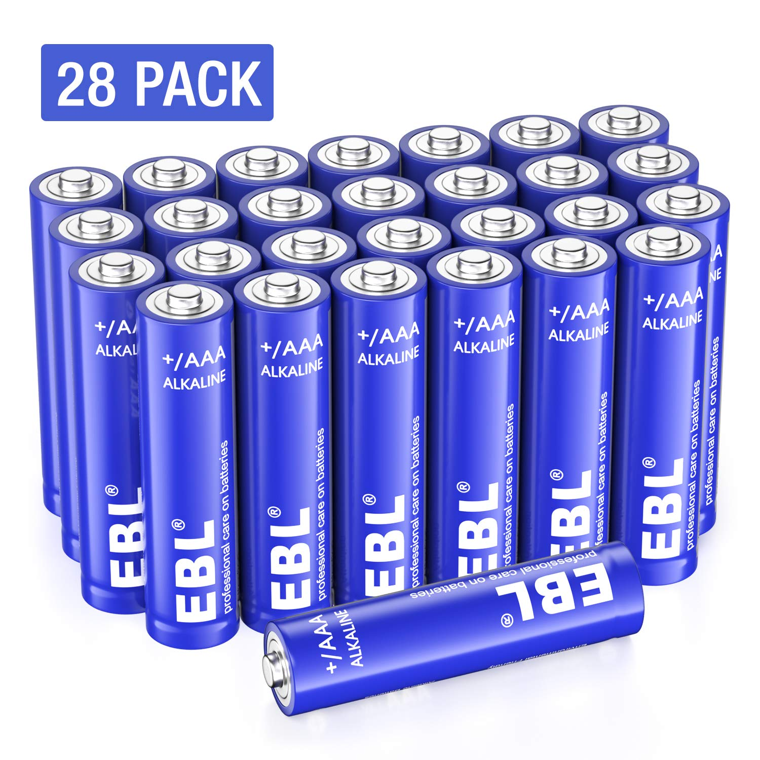 EBL AAA Batteries (28 Count), Triple A Alkaline Battery with 10-Year Shelf Life, 1.5V AAA Alkaline Super Batteries, Long-Lasting, Anti-leakage & Anti-circuit Design