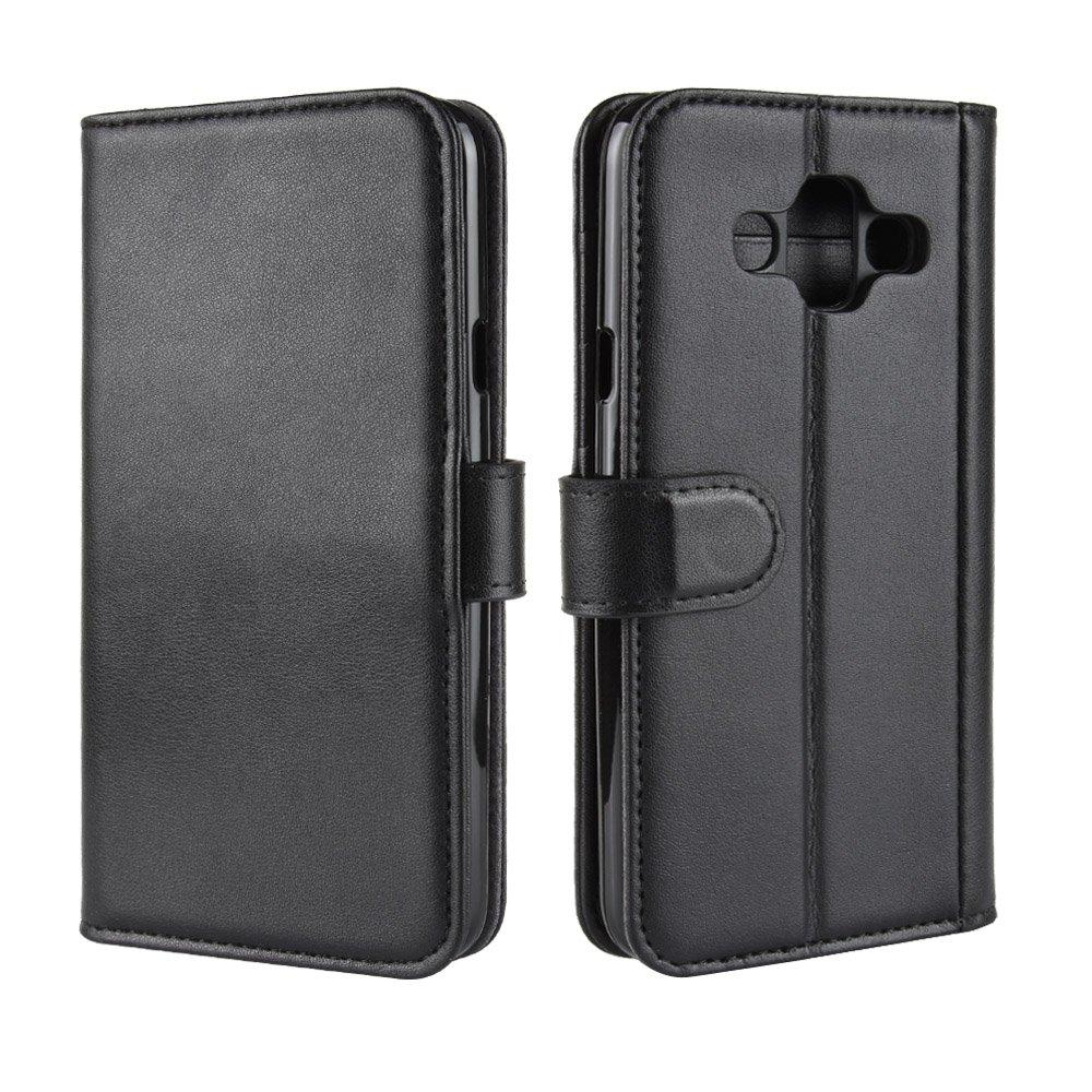 Scheam Samsung Galaxy J7 Duo Case, [Portable Wallet ] [ Slim Fit ] Heavy Duty Protective Cellphone Case Flip Cover Wallet Case Compatible with Samsung Galaxy J7 Duo - Black