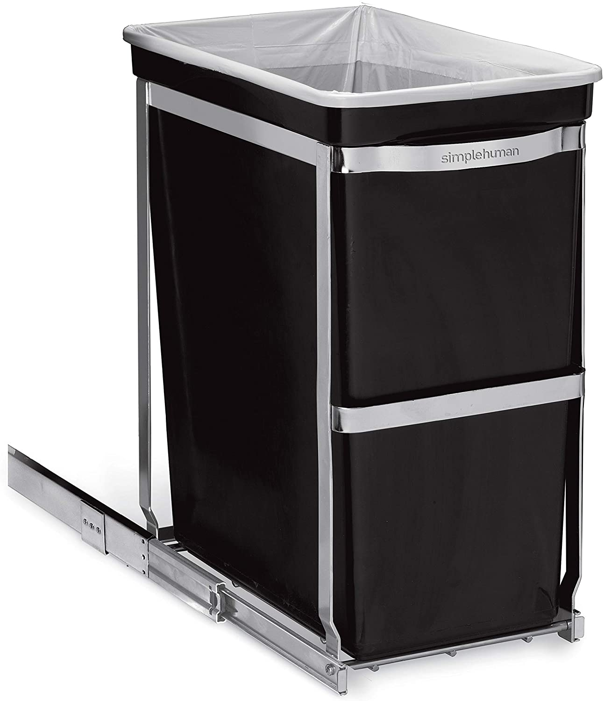 Color Negro simplehuman Cubo de Basura con Soporte extra/íble