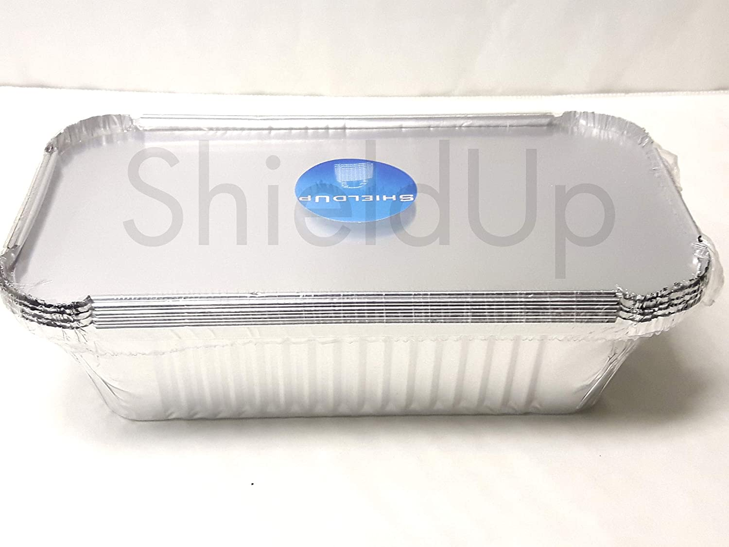 ShieldUp Foil Tray Drip Pans | Pack of 5 Aluminium containers with lids