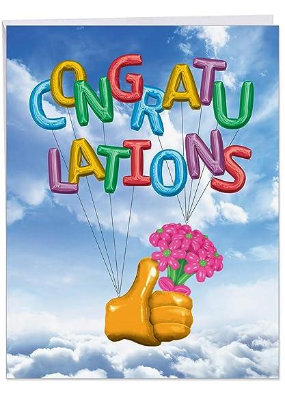J6341CGG Jumbo Tarjeta de felicitaciones: globos con sobre, tamaño ...