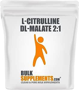 BulkSupplements Pure L-Citrulline DL-Malate 2:1 Powder 250 grams (8.8 oz) Powder