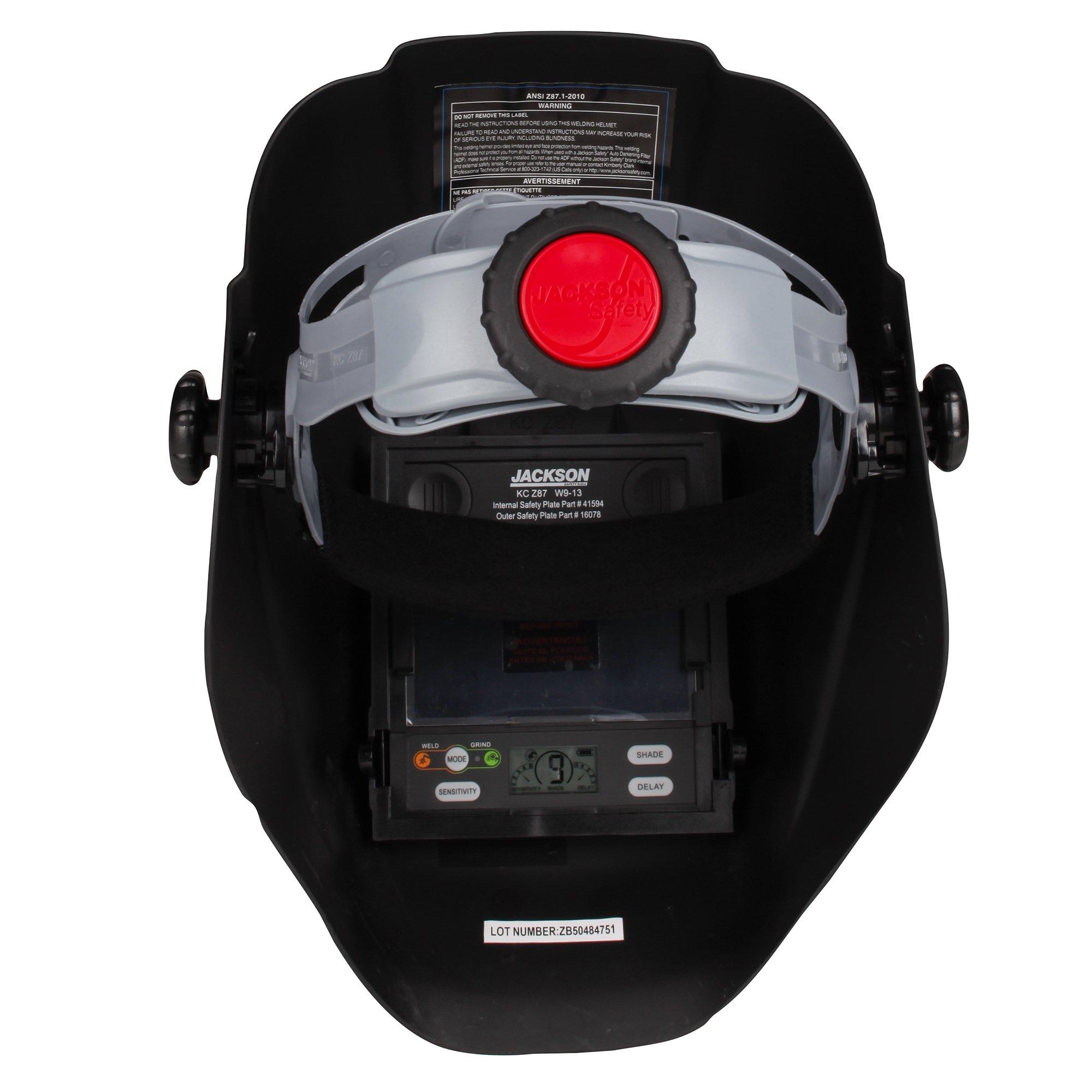 Jackson Safety 46131 Insight Variable Auto Darkening Welding Helmet, HaloX ,Black by Jackson Safety (Image #5)