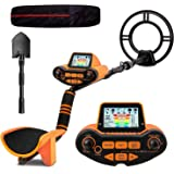 SUNPOW Professional Metal Detector for Adults, Adjustable Ground Balance, Disc & Notch & Pinpoint Modes, Upgraded DSP…