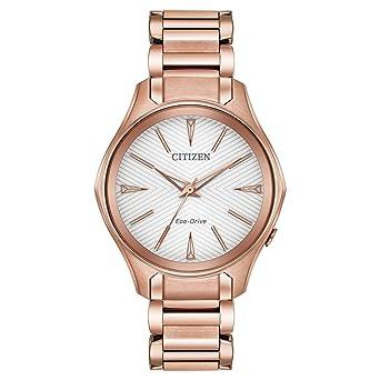 3d924d3ec078a2 Citizen Women's Eco-Drive Japanese-Quartz Watch with Stainless-Steel Strap,  Pink