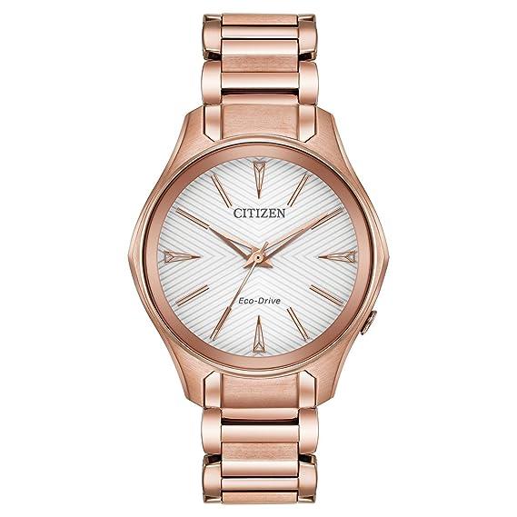 Citizen Reloj de mujer cuarzo 36mm correa y caja de acero EM0593-56A: Amazon.es: Relojes