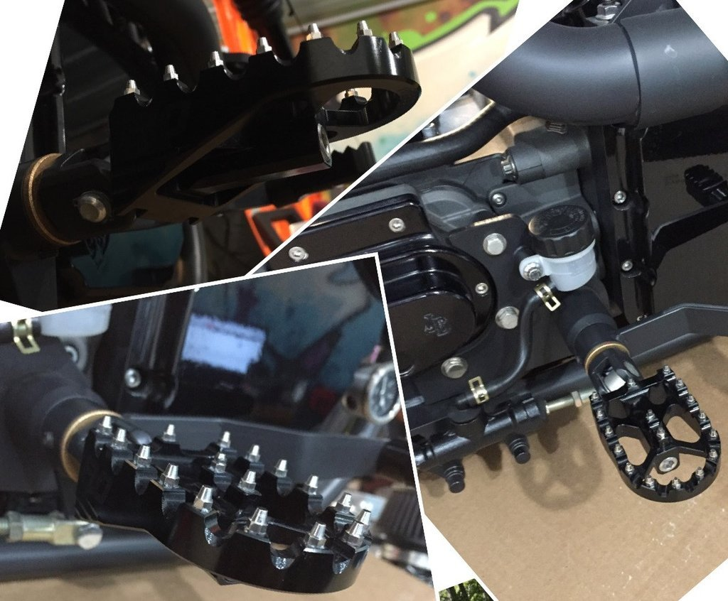Gold FLO MOTORSPORTS MX STYLE HARLEY DAVIDSON DYNA FOOT PEGS