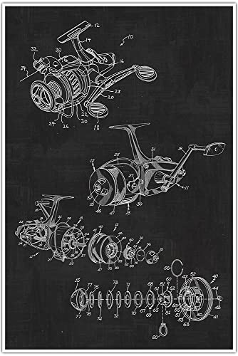 Amazon fishing reel sports blueprint patent patent poster fishing reel sports blueprint patent patent poster blueprint poster art malvernweather Choice Image