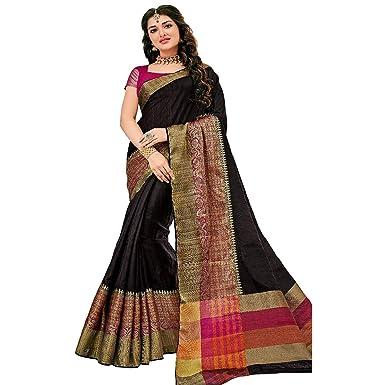 ETHNIC EMPORIUM Vestido de Las Mujeres de diseño Indio Sari Sari ...