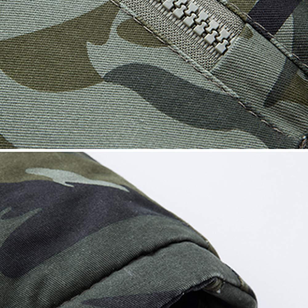 Amazon.com: MODOQO Winter Warm Coat for Men Plus Size Camo Long Trench Zipper Hooded Jacket: Clothing