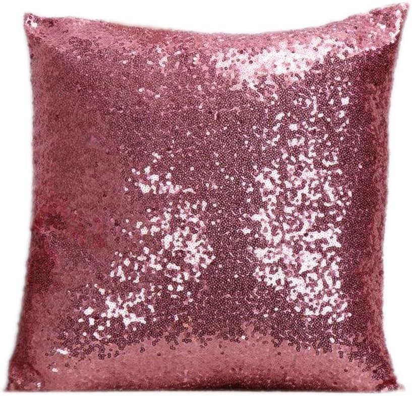 40 x 40 cm sof/á o coche caf/é Fablcrew Funda de almohada con lentejuelas brillantes cuadradas para decoraci/ón de hogar