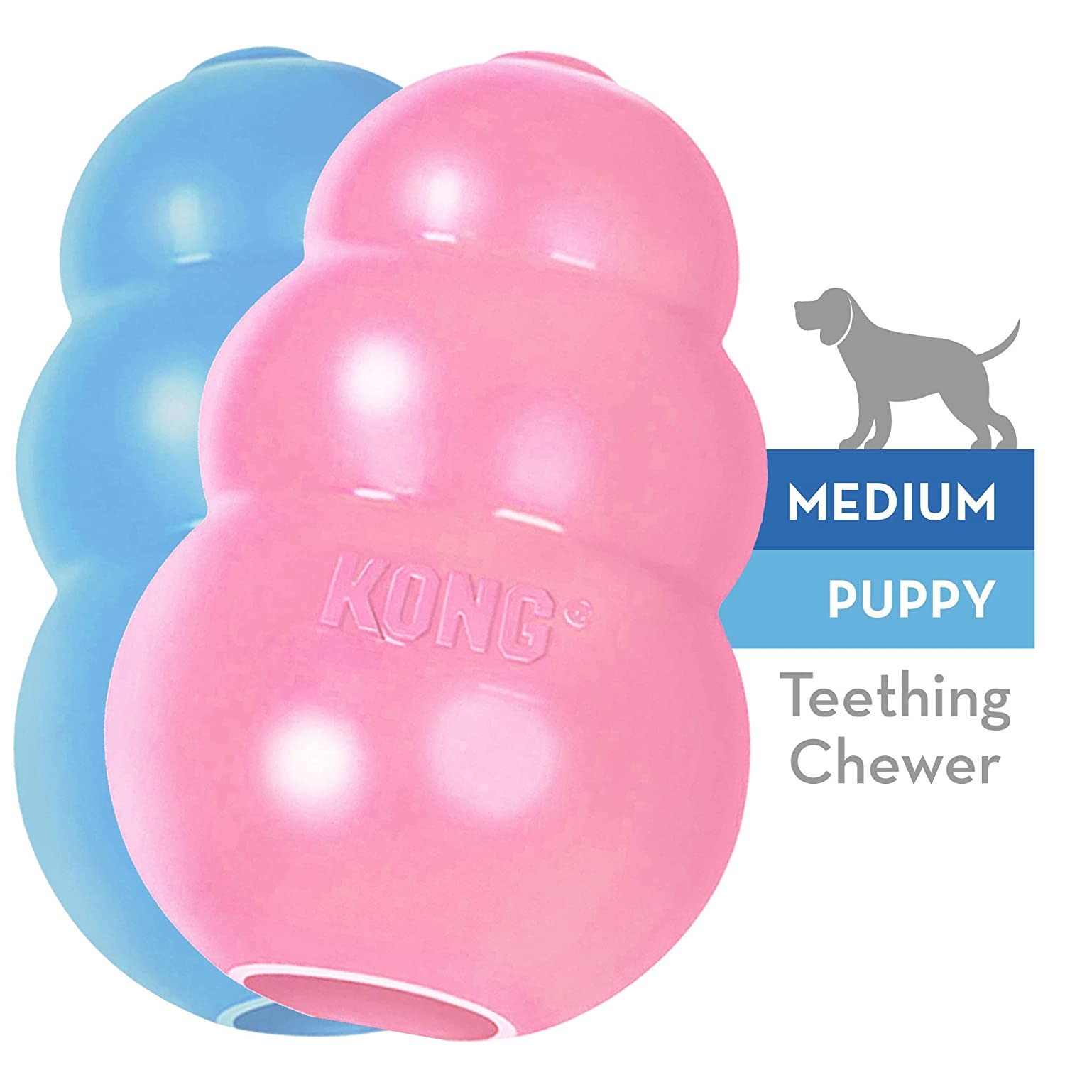B0002AR182 KONG - Puppy Toy - Natural Teething Rubber - Fun to Chew, Chase and Fetch (Includes One Toy, Color May Vary) 71Pmwn70HXL
