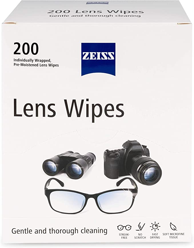 Amazon.com: Zeiss Pre-Moistened Lens Cleaning Wipes, 200 Count (Pack of 1):  Health & Personal Care