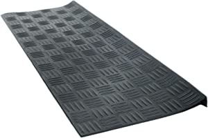 Imports Decor Inc Black Rectangular Skid Free Rubber Stair Mat with Crisscross Design 30