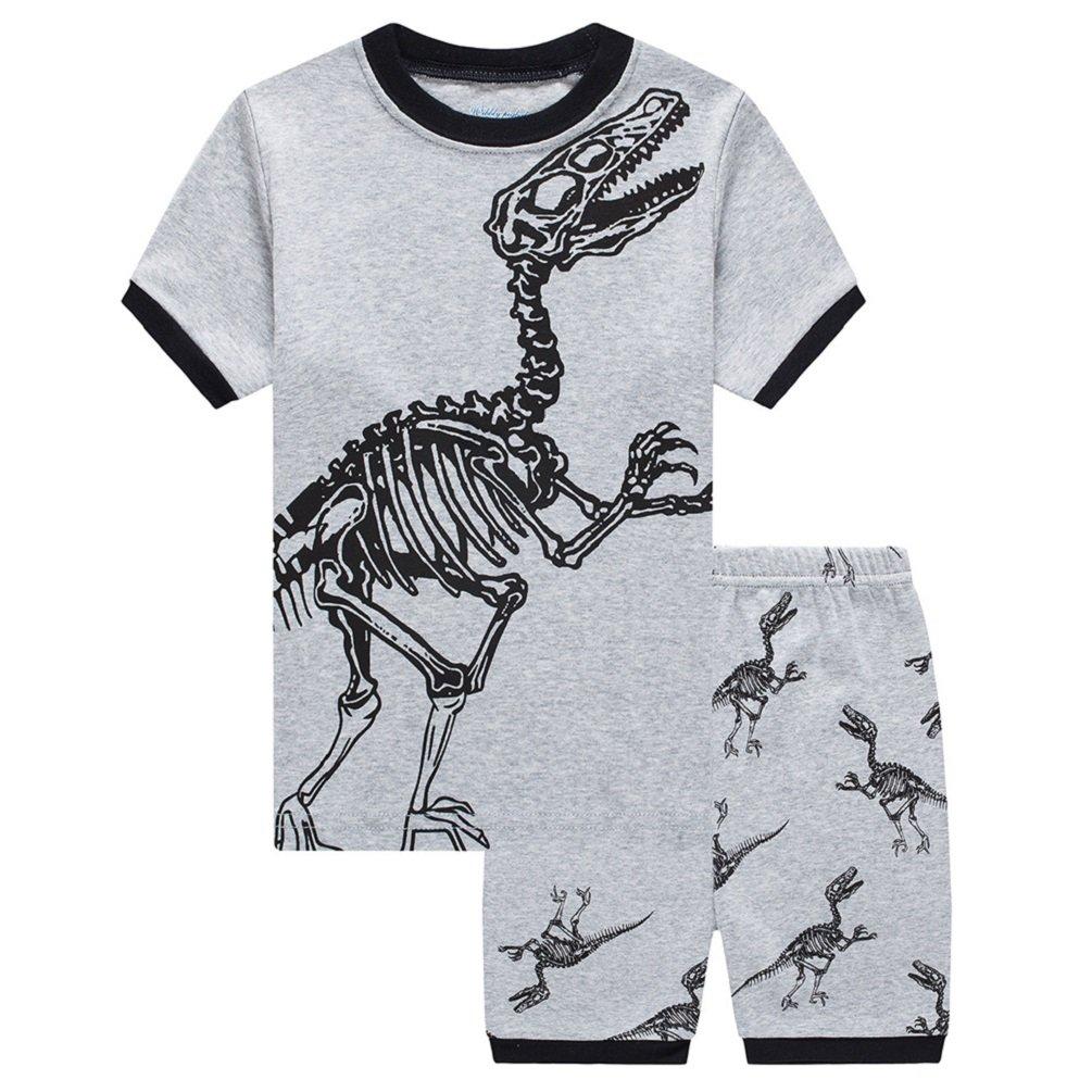 Little Big Boys Summer Pajamas Short Cotton Dinosaur Kids PJS Clothes Set Sleepwears