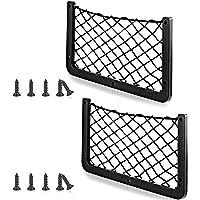 2 Pieces Large ABS Plastic Frame Car Storage Net Bag Car Mesh Net Bag Holder Car Net Pocket Organizer Car Seat Mesh…
