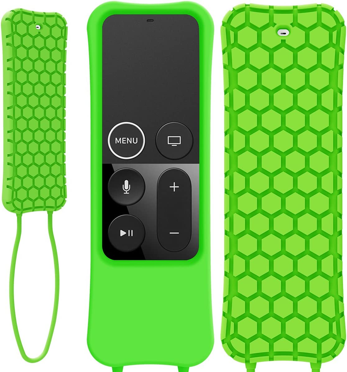 Kutop Compatible Apple TV Remote Case, Soft Silicone Protective Cover Light Weight Shock Proof Skin with Anti-Drop Strap fit Apple TV Remote Controller, 4K/ 4th Generation
