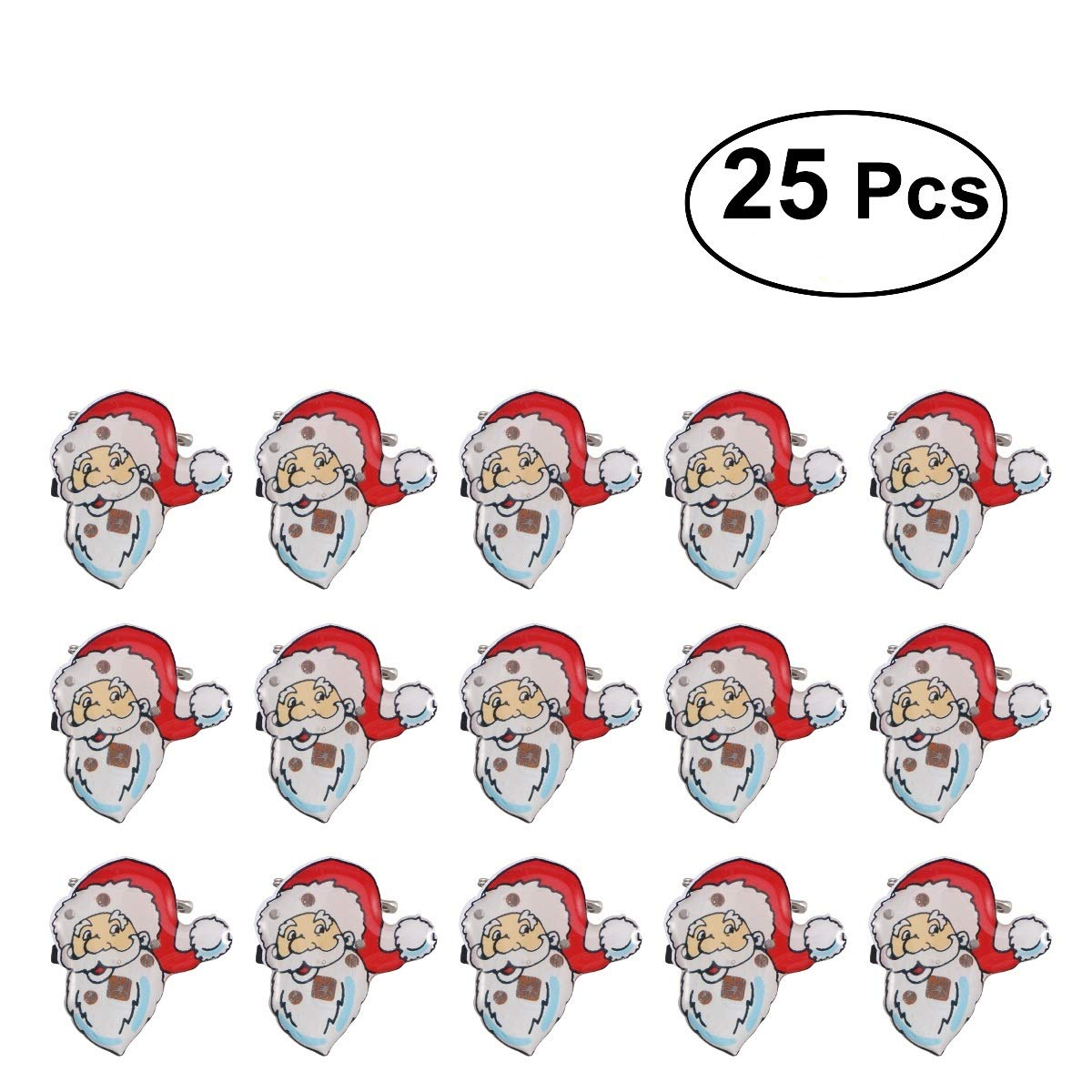 BESTOYARD LED Brooch Christmas Brooch Pin Santa Claus Badge Brooch Children Gift Party Favors 25Pcs SG/_B075FSM3GY/_US