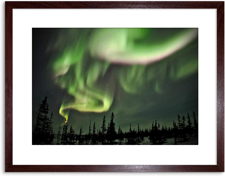 SPACE PHOTO NORTHERN LIGHTS AURORA BOREALIS FRAMED ART PRINT POSTER F97X12292