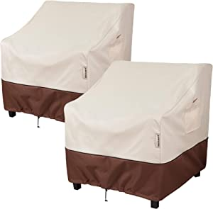 "Bestalent Patio Chair Covers Heavy Duty Outdoor Furniture Covers Waterproof Fits up to 30"" W x 27"" D x 36"" H 2Pack"