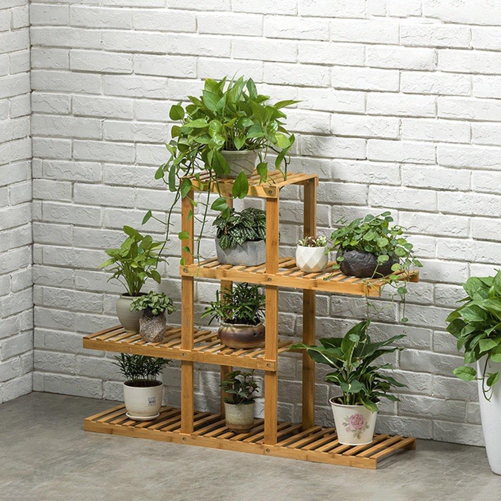 Etagere Dans Le Salon Chambre Cuisine 4 Tiers Bambou Fleur