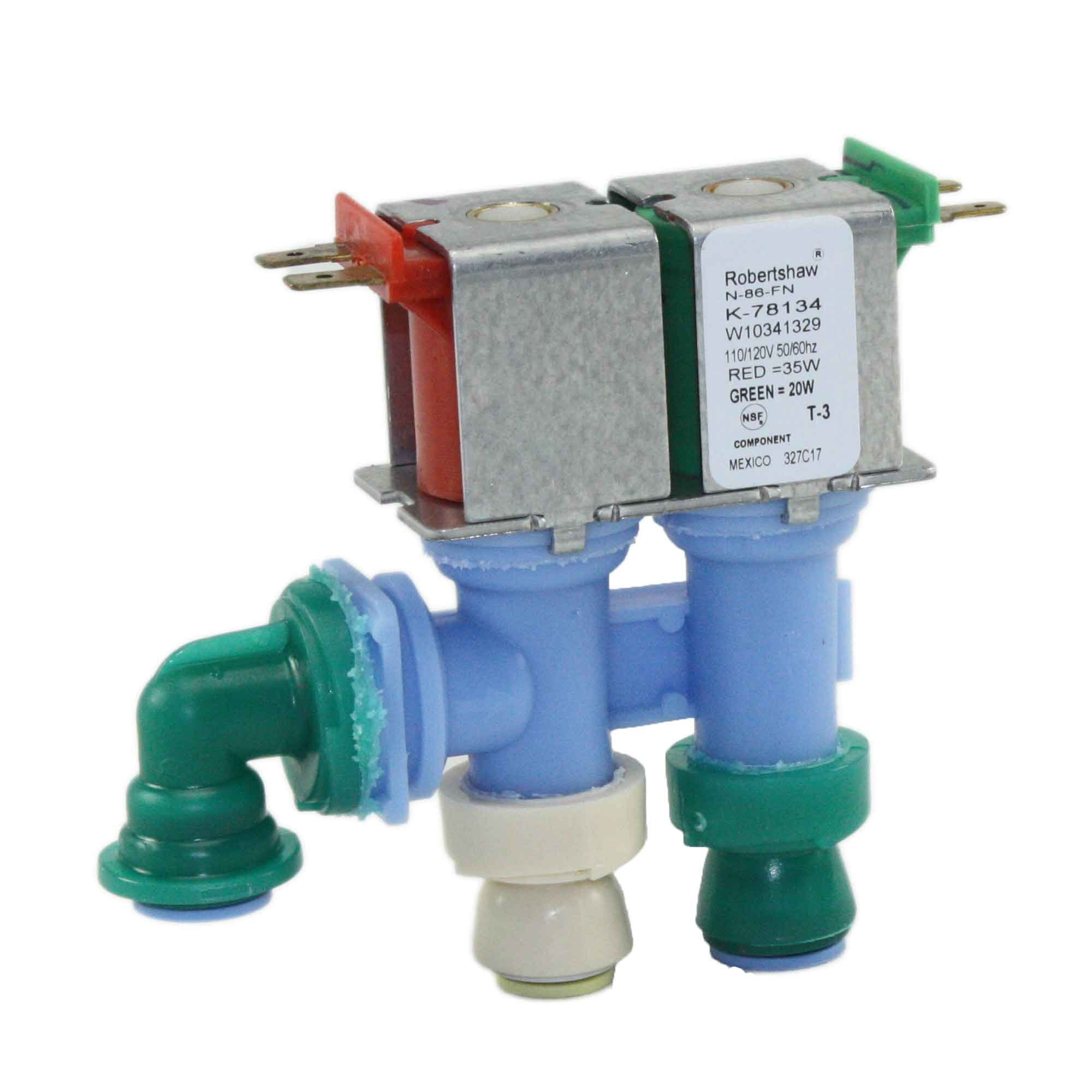 Supplying Demand W10341329 Refrigerator Dual Water Valve Works With AP6019940