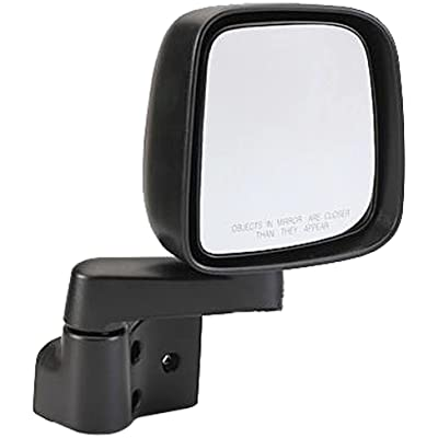 Dorman 955-695 Passenger Side Manual Door Mirror - Folding for Select Jeep Models, Black: Automotive