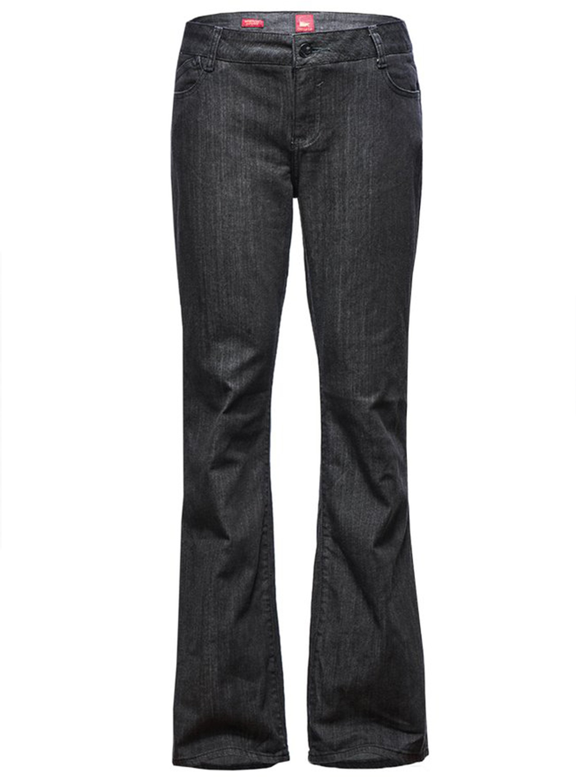 ZITY Women's Sadie Straight 5 Pocket Mid Rise Super Denim Jeans Black 4