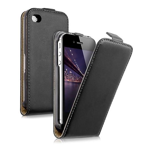 98 opinioni per Custodia in pelle in stile Flip per Apple iPhone 4 / 4S con pratica chiusura