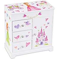 (Fairy Princess and Castle) - JewelKeeper Unicorn Musical Jewellery Box with 3 Pullout Drawers, Fairy Princess and Castle Design, Dance of The Sugar Plum Fairy Tune