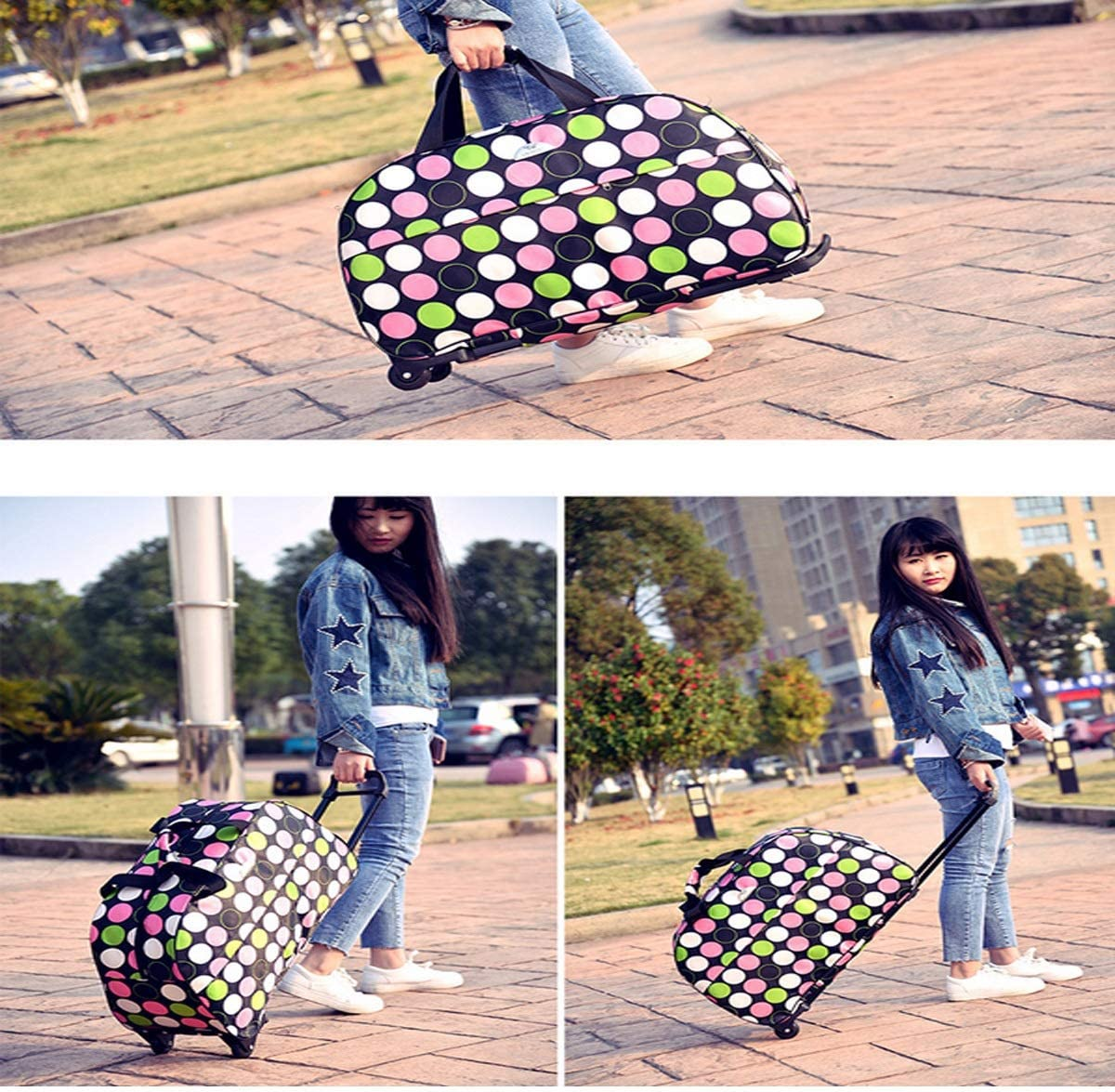 Luggage Wheel Light Carrying With Rolling Luggage Canvas Bag Lightweight Waterproof 23 Inches Perf Luggage College Bag Business Travel Backpack Luggage Rolling Trolley Red Travel Bag Handbag
