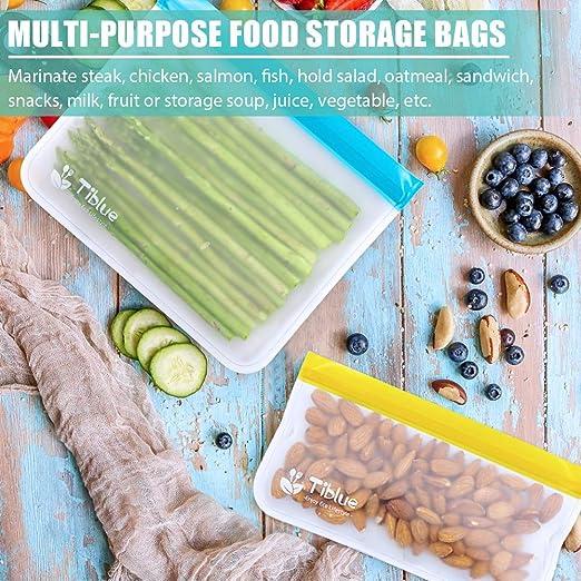 Amazon.com: Bolsas reutilizables de almacenamiento de ...