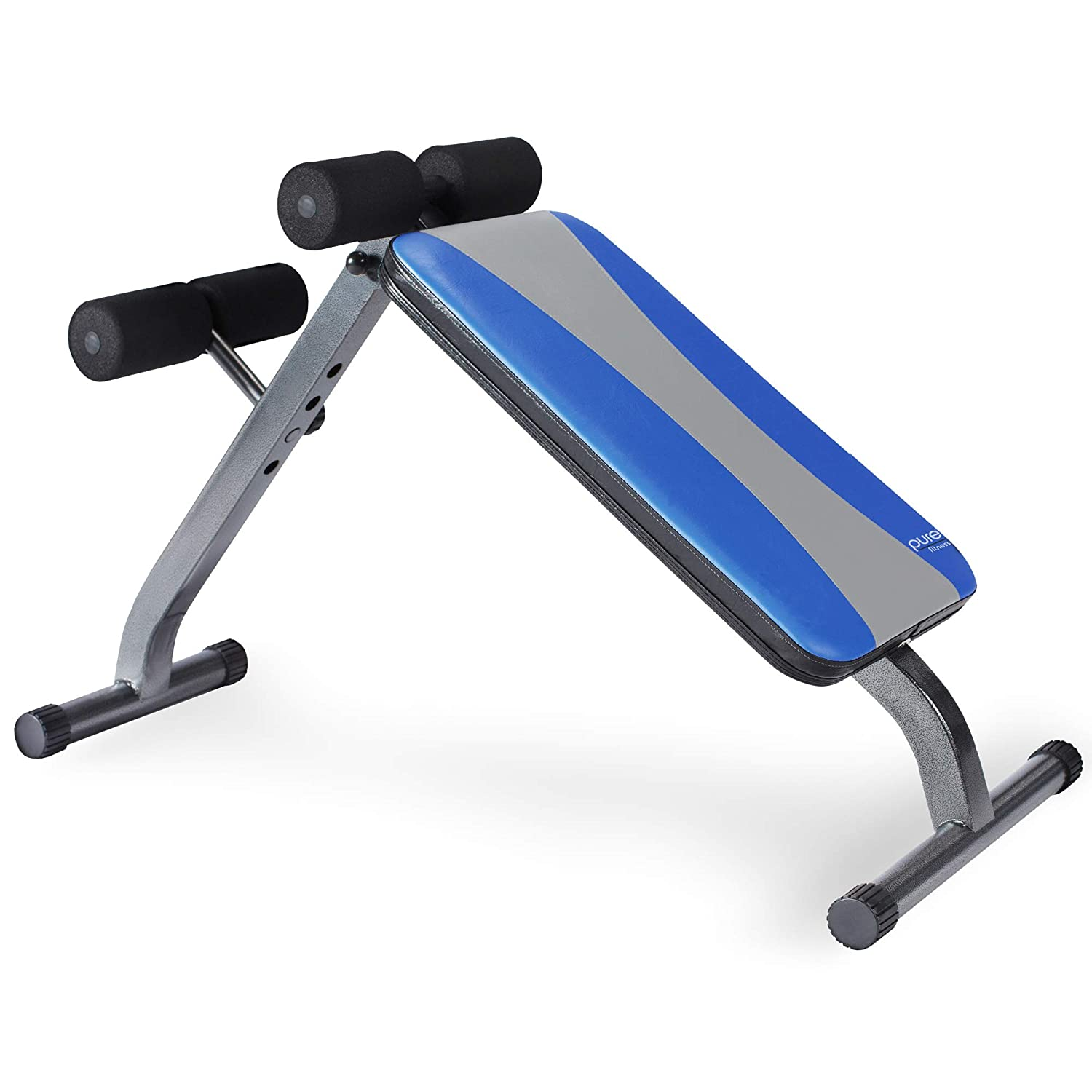 Pure Fitness Weight Training/Workout: Adjustable Ab Crunch/Sit-Up Bench, Blue/Black 8642AB