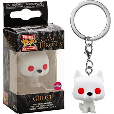 Funko Pocket POP! Keychain Game of Thrones - Ghost [Flocked] Exclusive: Toys & Games