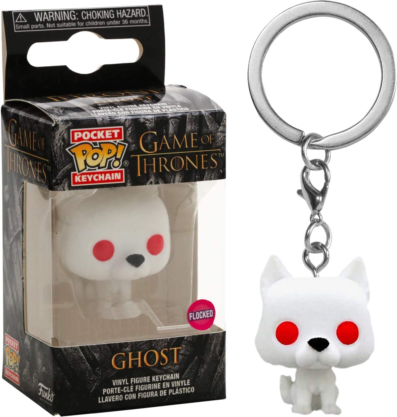 Pocket POP Game Of Thrones S9 Ghost Keychain New!