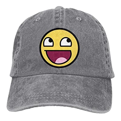 Hhil Swater Unisex Cute Face Adjustable Denim Baseball Caps Cowboy Peaked Hats