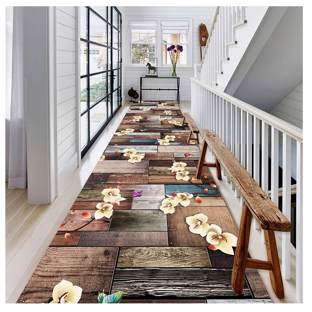 廊下カーペット廊下ランナー敷物 カーペット 階段敷物 滑り止め 複数のサイズ カスタマイズ可能 カッタブル 2色 (色 : B, サイズ さいず : 1X5M) B07S9M41DC