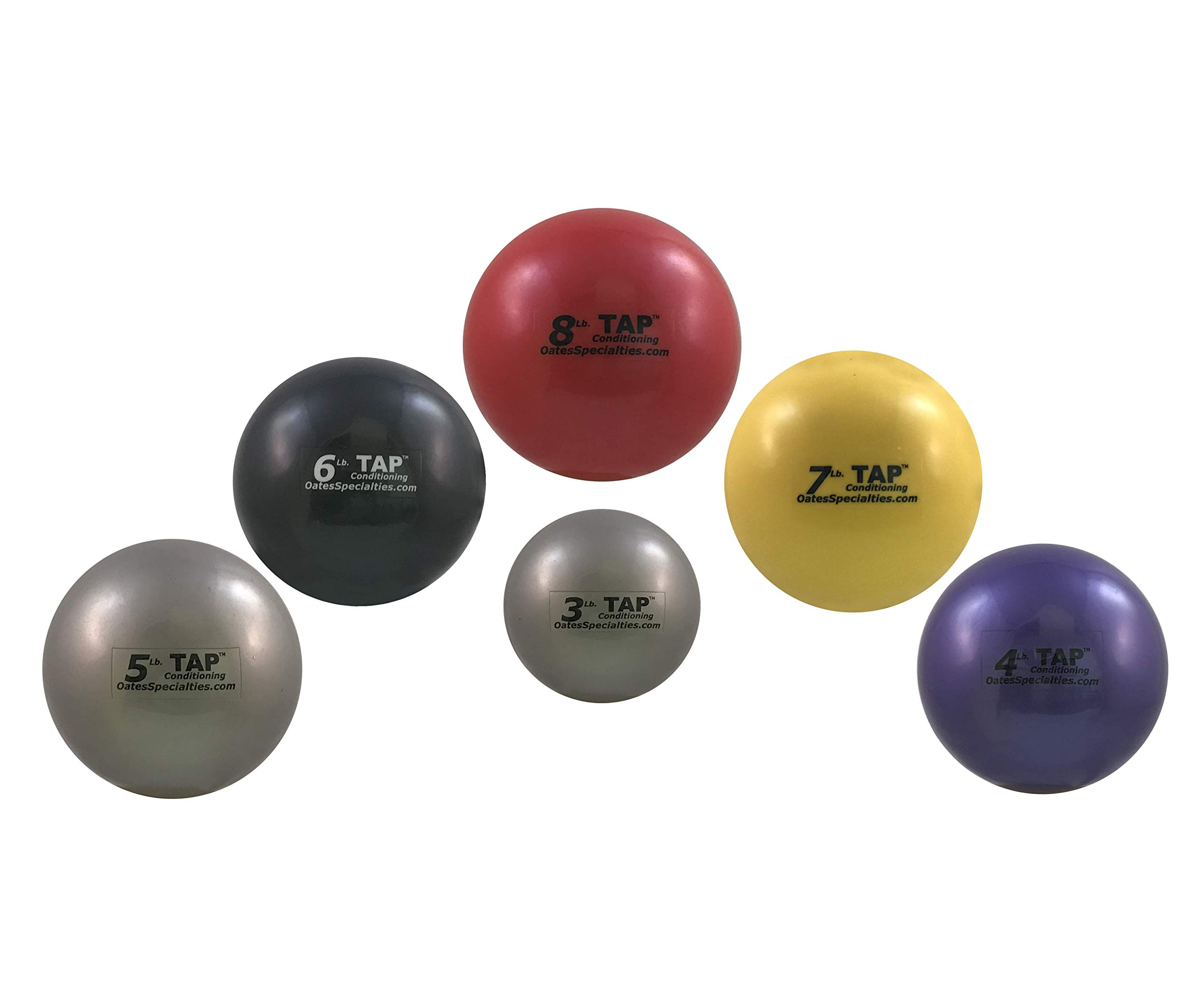 Mini-Medicine Ball | Used As a Replacement for Small Dumbbells | Used For Indoor Shot Put (Training Only) | Increase Grip Strength | Use For Slams, Tosses, and Throws (Complete Set (3lb-8lb))
