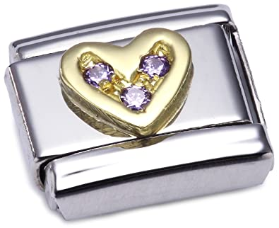 Nomination Composable Classic Love Heart Stainless Steel and 18K Gold xMwMAlSCBP