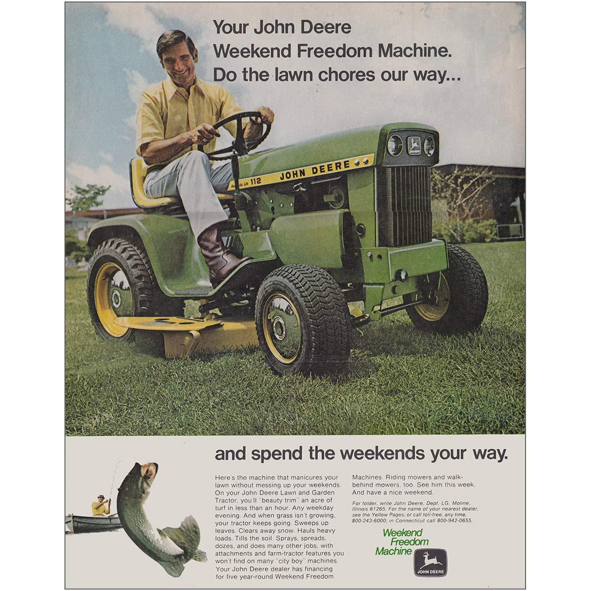 Weekend Freedom Machines >> Amazon Com Relicpaper 1971 John Deere Tractor Weekend